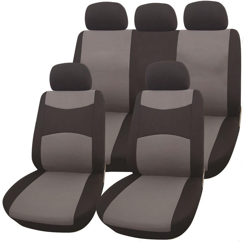 Seat Cover Set Black Grey Streetwize Accessories