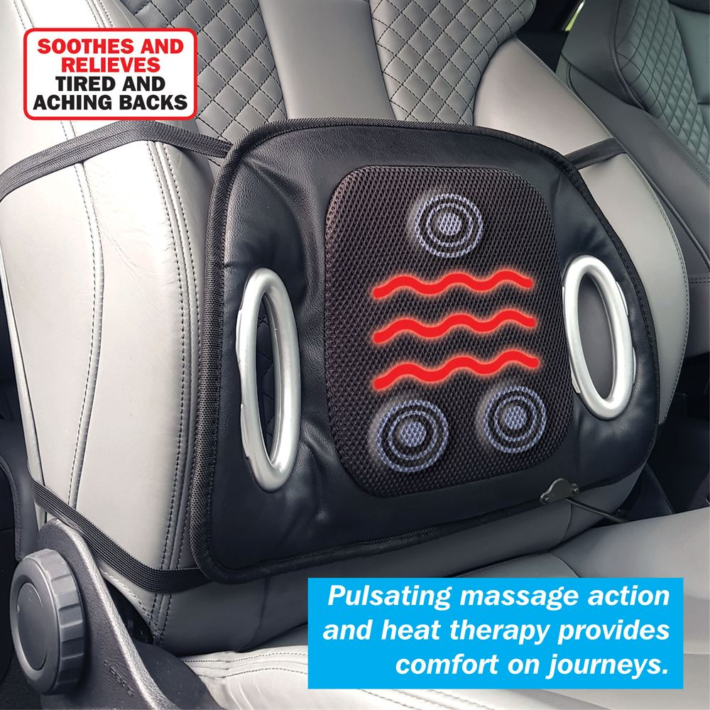 Heated Seat Cushion With Lumbar Support Streetwize Accessories