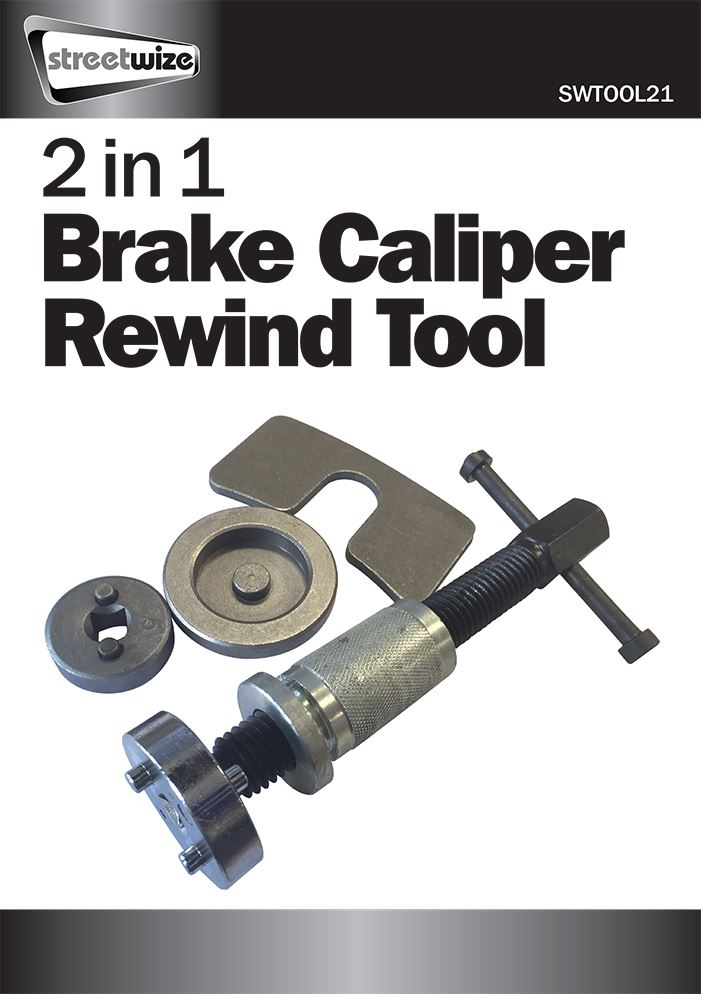 2 in 1 Brake Caliper Rewind Tool Set - Streetwize Accessories