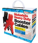 Streetwize SWBC4 Booster Cables-3 m X HD Insulated Clips 270 Amp for up to 1800cc