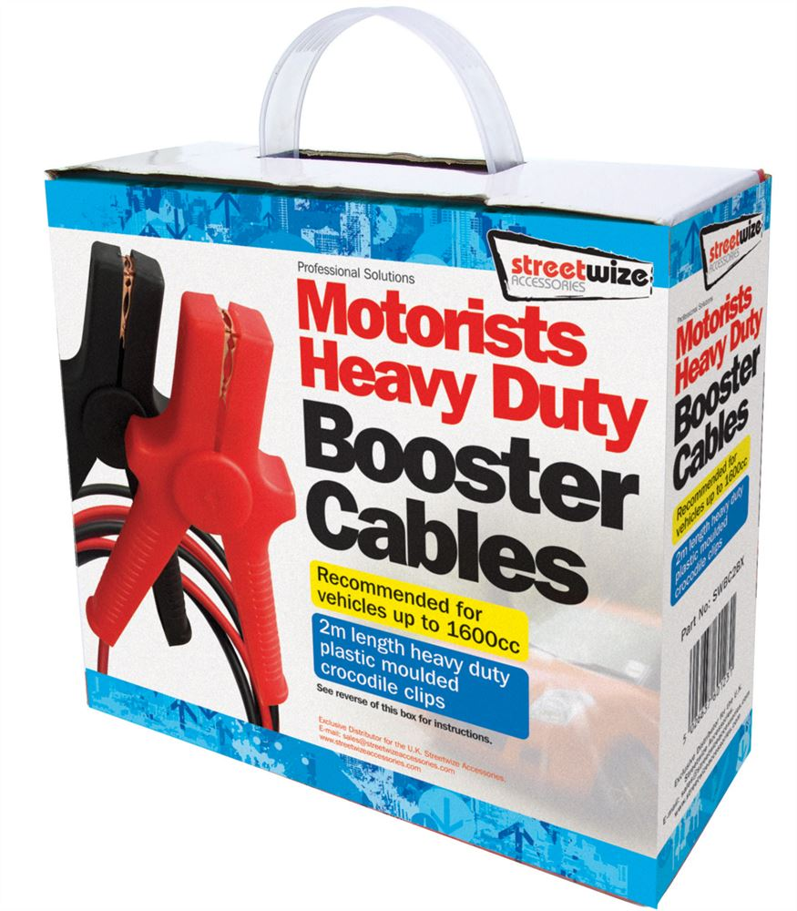 Streetwize Booster Cable with Metal Crocodile Clips 2m//150 Amp SWBC2