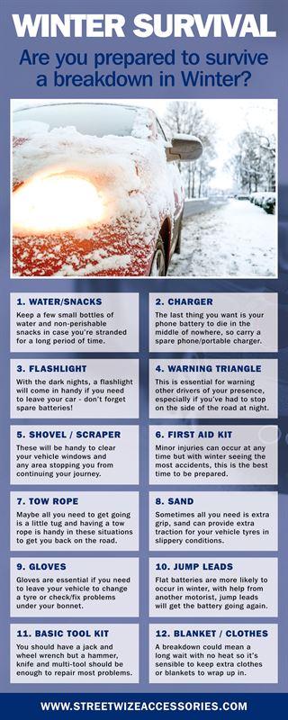 Winter Essentials List - Streetwize Accessories