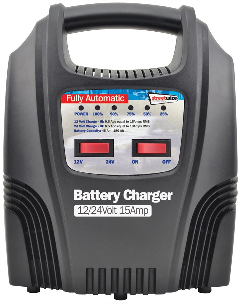 12 24v 15 Amp Fully Automatic Battery Charger Streetwize Accessories 15a Car Shortcircuit Protection Also Used For Motor Swbcled15 Prod