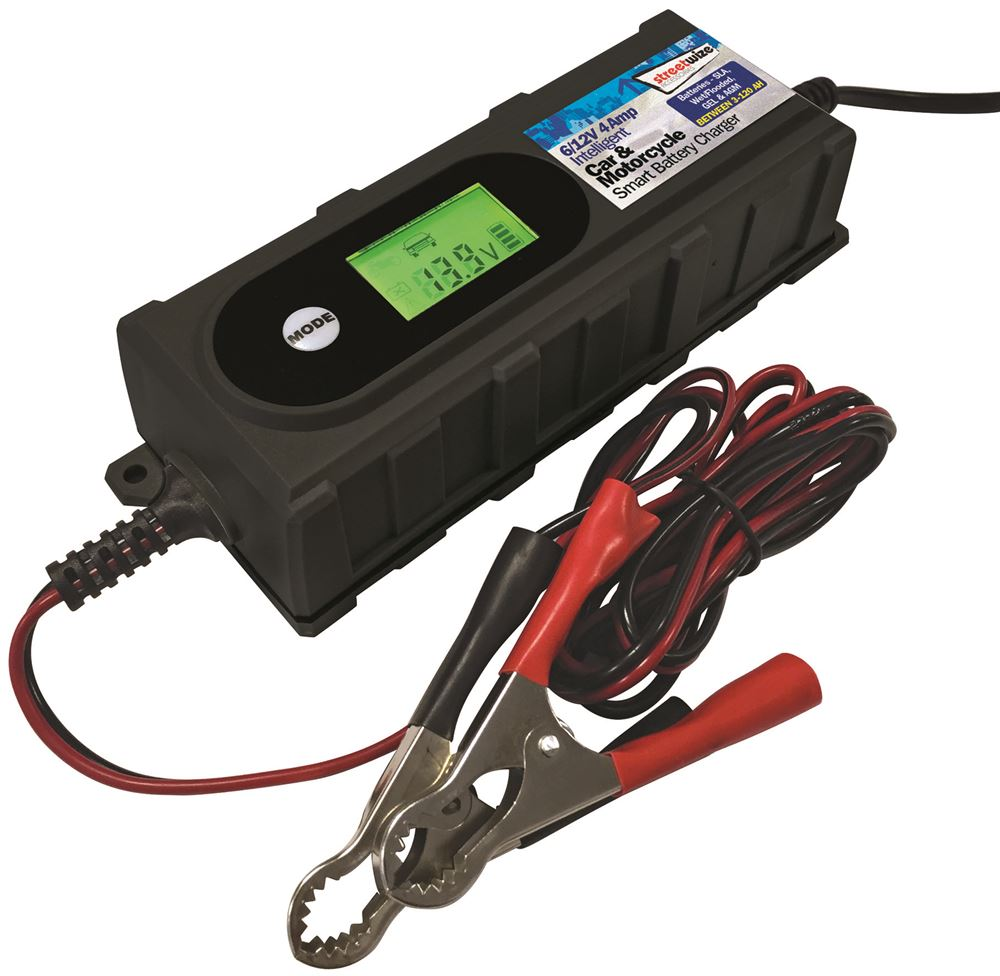 SWBCLED4 Streetwize 6//12v 4 Amp Fully Automatic Car Battery Charger