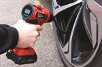 cordless air compressor in use